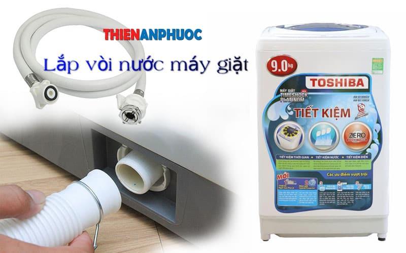 Hướng dẫn chi tiết cách lắp vòi nước máy giặt Toshiba đúng cách
