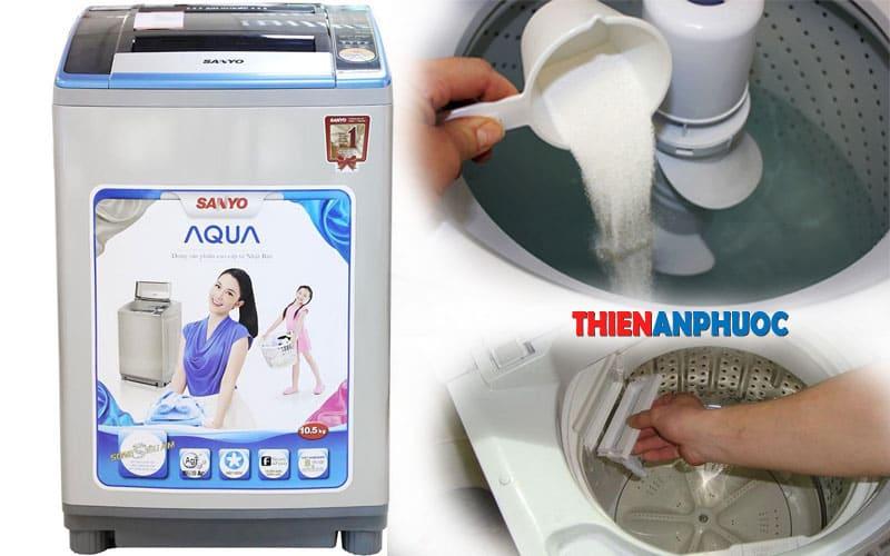 Cách vệ sinh máy giặt Sanyo | Dịch vụ vệ sinh máy giặt cửa trên tại nhà