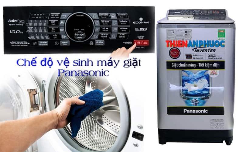 Chế độ vệ sinh máy giặt Panasonic có thể nhiều người đã bỏ qua