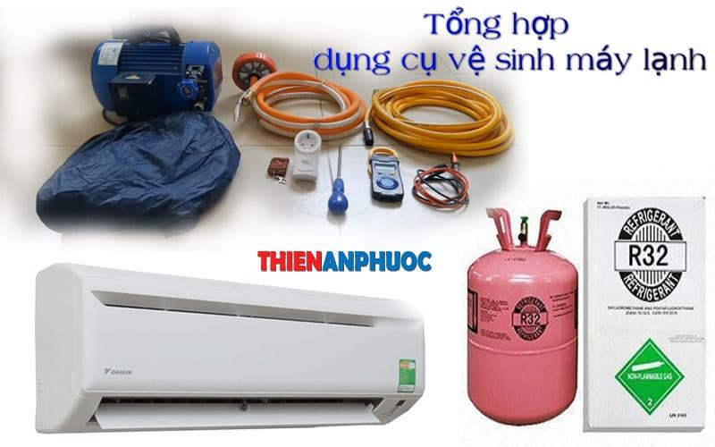 Các dụng cụ vệ sinh máy lạnh chính hãng chất lượng thường hay dùng