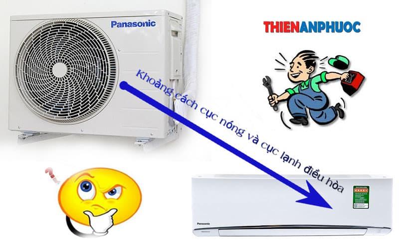 Khoảng cách giữa cục nóng và cục lạnh điều hòa bao nhiêu là đủ
