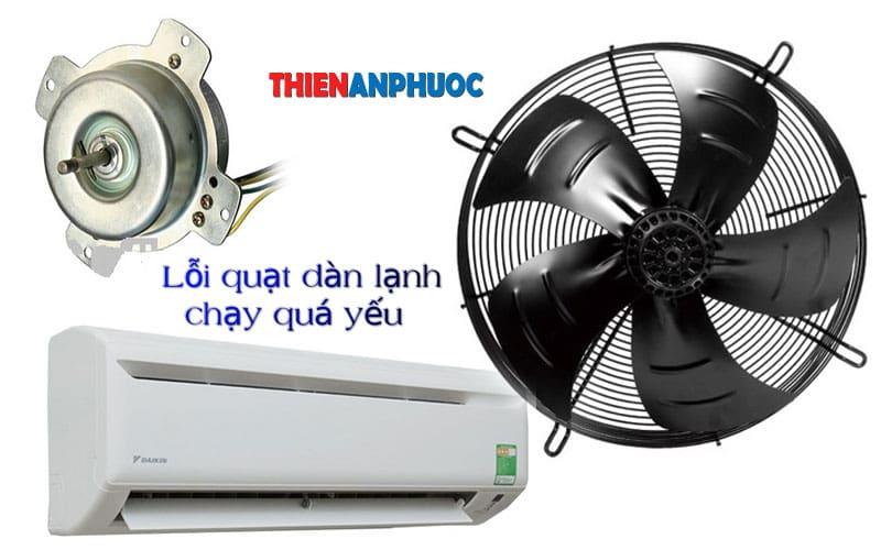 Nguyên nhân và cách sửa quạt dàn lạnh chạy yếu giá rẻ tại TPHCM