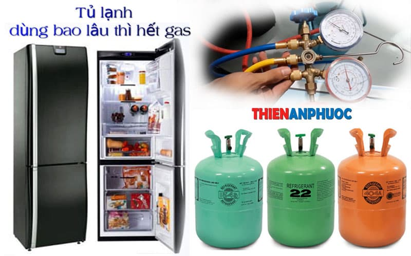 Tủ lạnh dùng bao lâu thì hết gas