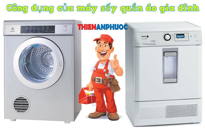 Máy sấy quần áo là gì? Công dụng của máy sấy quần áo gia đình