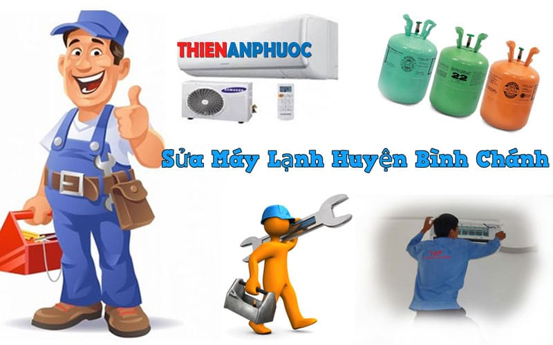 Dịch vụ sửa máy lạnh huyện Bình chánh giá rẻ tại TPHCM