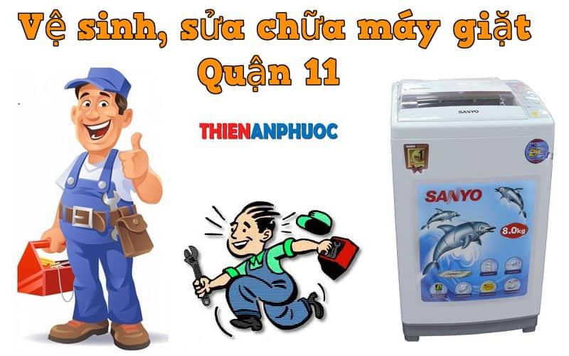 Dịch vụ vệ sinh, sửa chữa máy giặt Quận 11 TPHCM