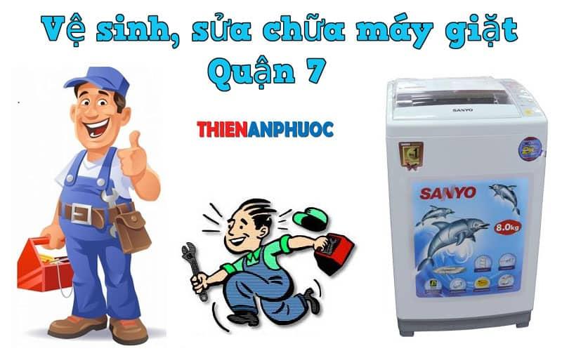 Dịch vụ vệ sinh, sửa chữa máy giặt Quận 7 TPHCM